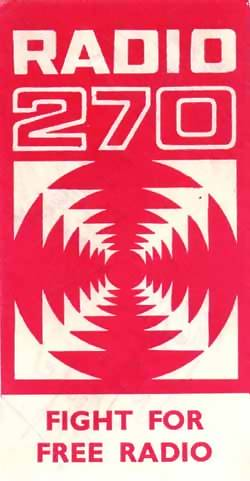 Radio 270 car sticker