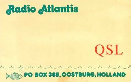 Radio Atlantis QSL card