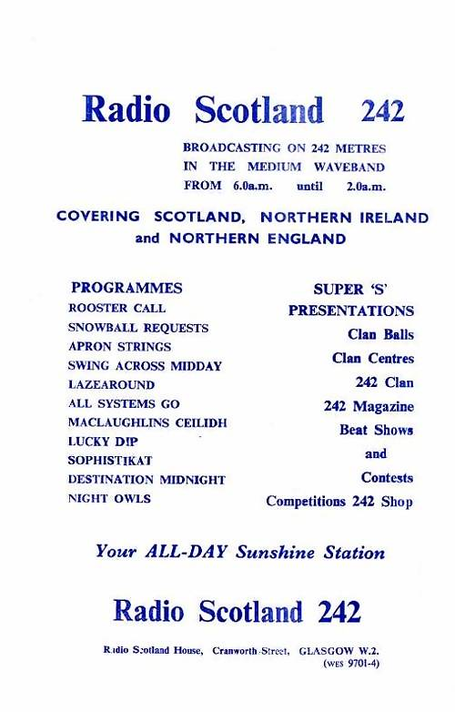 Radio Scotland flyer