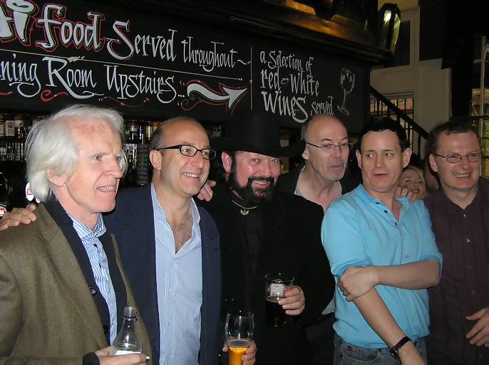 Ronan O'Rahilly, Paul McKenna, Don Stevens, Bob Matthews, Nigel Harris, Johnny Lewis