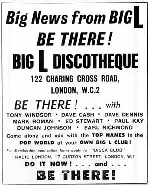 advert for the Big L discotheque in London