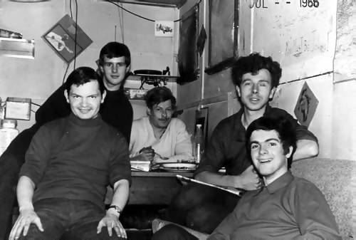 Van Stirling, David Sinclair, Keith Robinson, Dick Dixon, Roger Scott