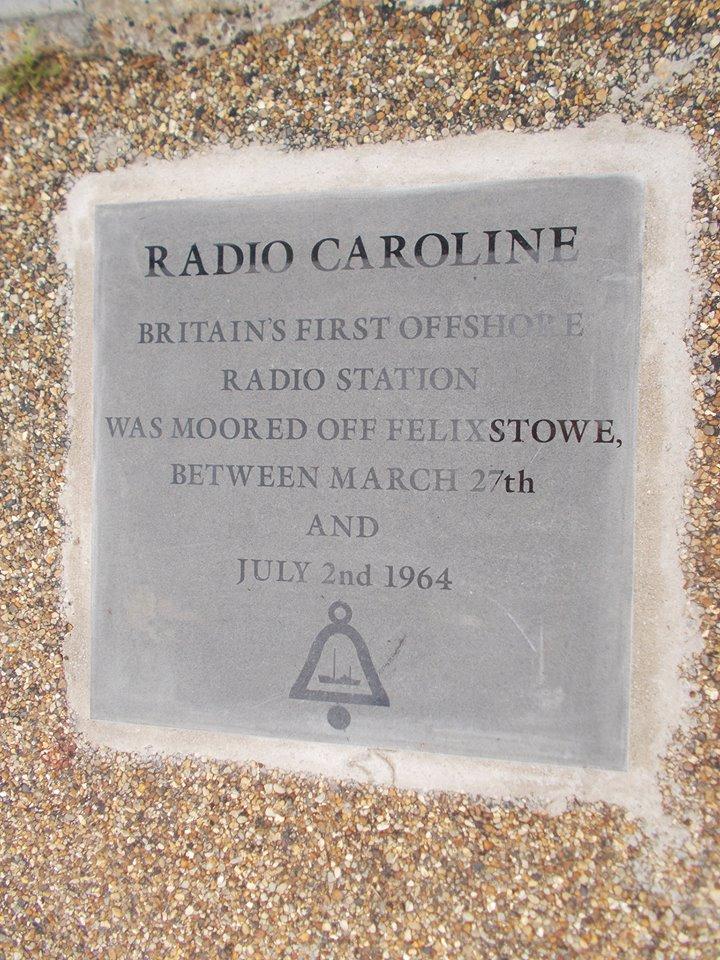 Radio Caroline commemorative stone unveiled in Felixstowe