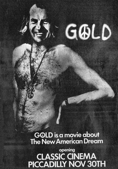 press advert for Gold