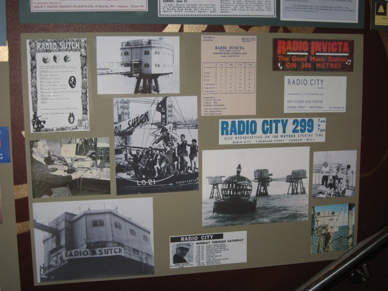 display of memorabilia from fort-based stations