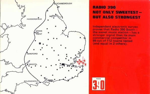 cover of Radio 390 leaflet
