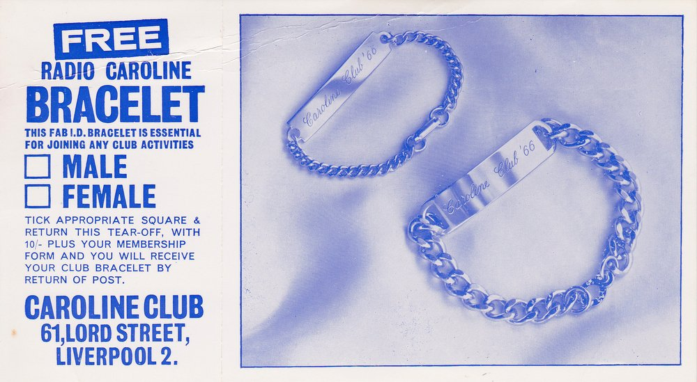 advert for Caroline ID bracelet