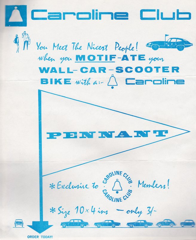 advert for Caroline pennants