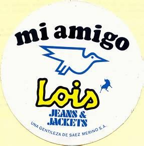 Radio Mi Amigo/Lois Jeans car sticker