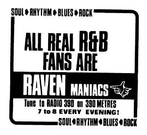 press advert for Mike Raven's R&B Show
