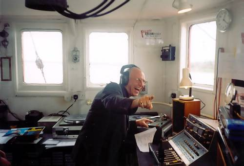 Paul Burnett in the studio