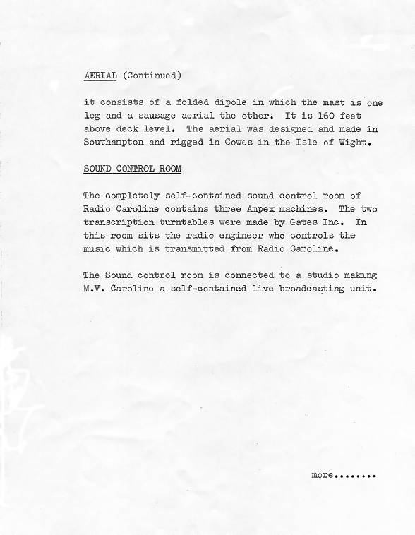 Radio Caroline launch press release, page 8