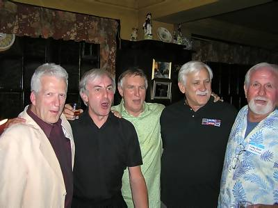Phil Martin, Roger Day, Johnnie Walker, Rick Randall and Larry Dean