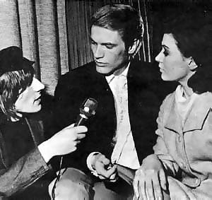 Stuart with Adam Faith and Cathy Spence
