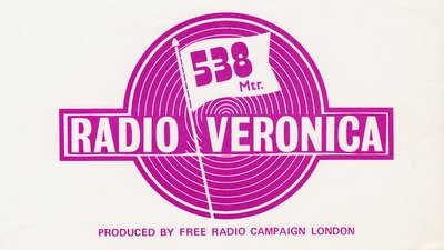 Radio Veronica car sticker