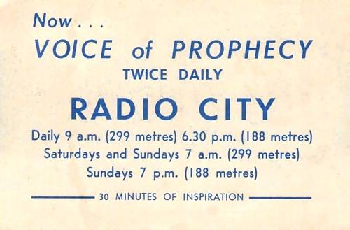 Voice of Prophecy advert
